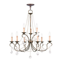 Pennington 9 Light 28 inch Venetian Golden Bronze Chandelier Ceiling Light