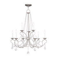 Livex Lighting Pennington 9 Light Chandelier in Brushed Nickel 6519-91