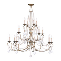 Livex Lighting Pennington 16 Light Chandelier in Antique Gold Leaf 6520-48