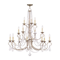Livex Lighting Pennington 16 Light Chandelier in Antique Silver Leaf 6520-73