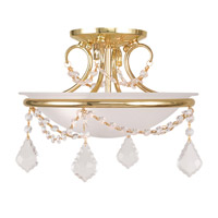 Livex Lighting Chesterfield and Pennington 2 Light Ceiling Mount in Polished Brass 6523-02