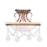 Pennington 2 Light 12 inch Antique Gold Leaf Ceiling Mount Ceiling Light