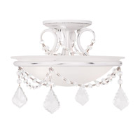 Livex Lighting Chesterfield and Pennington 2 Light Ceiling Mount in Antique White 6523-60