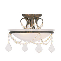 Livex Lighting Chesterfield 2 Light Ceiling Mount in Venetian Golden Bronze 6523-71