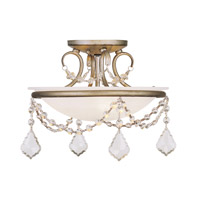 Livex 6523-73 Pennington 2 Light 12 inch Antique Silver Leaf Ceiling Mount Ceiling Light