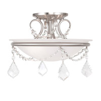 Livex Lighting Chesterfield and Pennington 2 Light Ceiling Mount in Brushed Nickel 6523-91