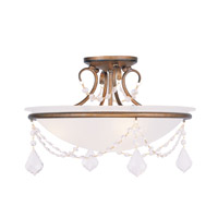 Livex Lighting Pennington 3 Light Ceiling Mount in Antique Gold Leaf 6524-48