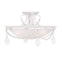 Livex 6524-60 Chesterfield and Pennington 3 Light 16 inch Antique White Ceiling Mount Ceiling Light