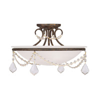 Livex 6524-71 Chesterfield 3 Light 16 inch Venetian Golden Bronze Ceiling Mount Ceiling Light