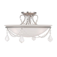Livex Lighting Chesterfield and Pennington 3 Light Ceiling Mount in Brushed Nickel 6524-91