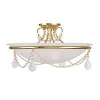 Livex Lighting Chesterfield and Pennington 3 Light Ceiling Mount in Polished Brass 6525-02