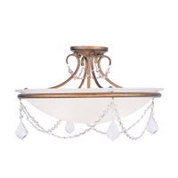 Livex Lighting Pennington 3 Light Ceiling Mount in Antique Gold Leaf 6525-48
