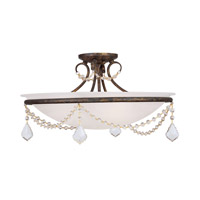 Livex Lighting Chesterfield 3 Light Ceiling Mount in Venetian Golden Bronze 6525-71