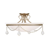 Livex Lighting Pennington 3 Light Ceiling Mount in Antique Silver Leaf 6525-73