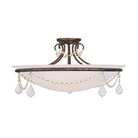 Livex Lighting Chesterfield 4 Light Ceiling Mount in Venetian Golden Bronze 6526-71