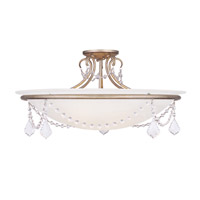 Livex Lighting Chesterfield and Pennington 4 Light Ceiling Mount in Antique Silver Leaf 6526-73