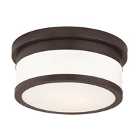 Livex 65501-07 Stafford 2 Light 10 inch Bronze Flush Mount Ceiling Light