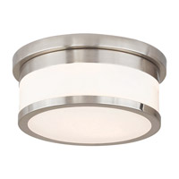 Stafford 2 Light 10 inch Brushed Nickel Flush Mount Ceiling Light