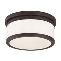 Livex Stafford 2 Light Flush Mount in Bronze 65502-07