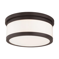 Stafford 3 Light 14 inch Bronze Flush Mount Ceiling Light