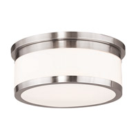 Livex 65503-91 Stafford 3 Light 14 inch Brushed Nickel Flush Mount Ceiling Light