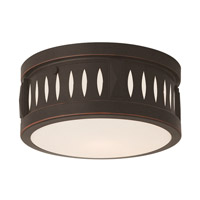 Vista 2 Light 10 inch Olde Bronze Flush Mount Ceiling Light