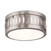 Vista 2 Light 10 inch Brushed Nickel Flush Mount Ceiling Light