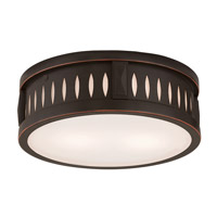 Livex Vista 2 Light Flush Mount in Olde Bronze 65507-67