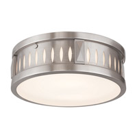 Vista 2 Light 12 inch Brushed Nickel Flush Mount Ceiling Light