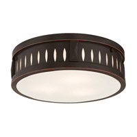Vista 3 Light 14 inch Olde Bronze Flush Mount Ceiling Light