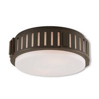 Livex 65512-67 Portland 2 Light 13 inch Olde Bronze Flush Mount Ceiling Light