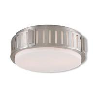 Livex 65512-91 Portland 2 Light 13 inch Brushed Nickel Flush Mount Ceiling Light