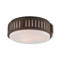 Livex 65513-67 Portland 3 Light 15 inch Olde Bronze Flush Mount Ceiling Light