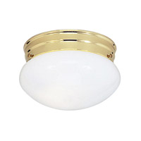 Livex Lighting Home Basics 1 Light Ceiling Mount in Polished Brass 7002-02