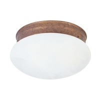 Livex 7002-18 Home Basics 1 Light 8 inch Weathered Brick Ceiling Mount Ceiling Light