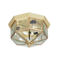 Livex Lighting Home Basics 3 Light Ceiling Mount in Polished Brass 7012-02 photo thumbnail
