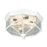 Limited 4 Light 11 inch White Flush Mount Ceiling Light