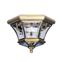 Livex 7052-01 Monterey 2 Light 11 inch Antique Brass Ceiling Mount Ceiling Light photo thumbnail