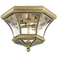 Livex 7052-01 Monterey 2 Light 11 inch Antique Brass Ceiling Mount Ceiling Light alternative photo thumbnail