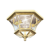 Livex 7052-02 Monterey 2 Light 11 inch Polished Brass Ceiling Mount Ceiling Light