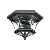 Livex Lighting Monterey 2 Light Ceiling Mount in Black 7052-04