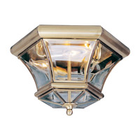 Livex 7053-01 Monterey 3 Light 13 inch Antique Brass Ceiling Mount Ceiling Light