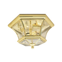 Livex 7053-02 Monterey 3 Light 13 inch Polished Brass Ceiling Mount Ceiling Light