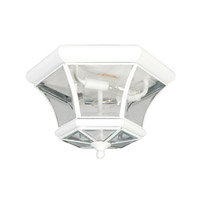 Livex 7053-03 Monterey 3 Light 13 inch White Ceiling Mount Ceiling Light photo thumbnail