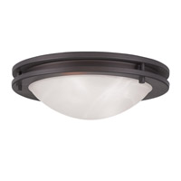 Livex 7057-07 Ariel 2 Light 11 inch Bronze Ceiling Mount Ceiling Light
