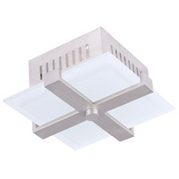 Livex Lighting Odyssey 1 Light Ceiling Mount in Brushed Nickel 7083-91