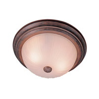Livex Lighting Home Basics 3 Light Ceiling Mount in Weathered Brick 7115-18