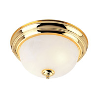 Livex Lighting North Port 2 Light Flush Mount in Polished Brass 7117-02