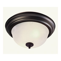 Livex Lighting Home Basics 3 Light Ceiling Mount in Bronze 7119-07