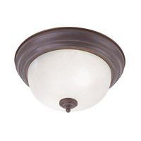 Livex Lighting Home Basics 3 Light Ceiling Mount in Weathered Brick 7119-18